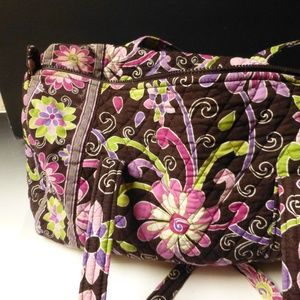 Vera Bradley PURPLE PUNCH Weekender roomy Carry on